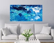 Sea Painting Oil Canvas Abstract Sea Art Ocean Painting Beach Home Decor Abstract Ocean Waves Coastal Nautical Decor Living Bedroom
