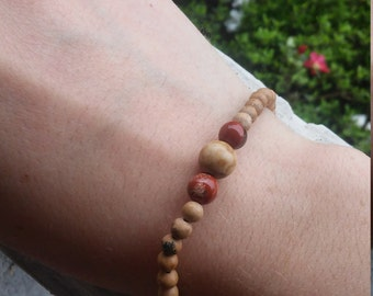 Mixed Jasper stretch bracelet
