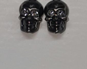 14K Gold Skull earrings
