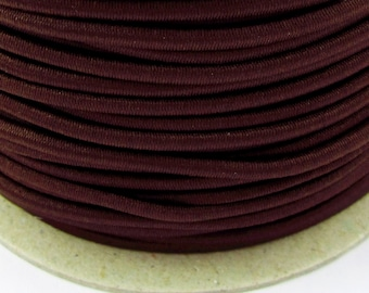 5, 10, 50 m rubber cord 2 mm Brown
