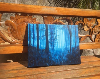 Acrylic Canvas Painting - Haunting