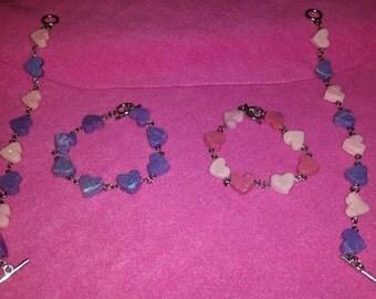 Candy Hearts Charm Bracelet