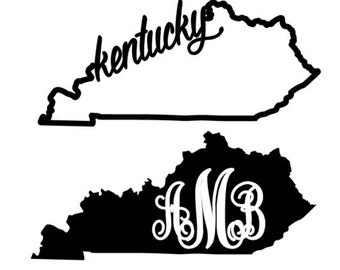 Any State Decal - Monogram or State Name