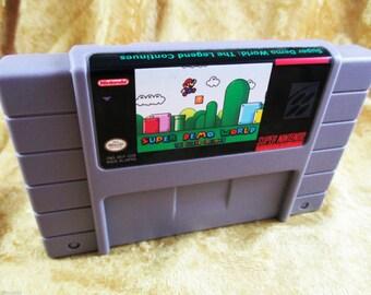 Super Demo World: The Legend Continues - (English) Super Nintendo (SNES) NTSC Super Nes USA Smw Super Mario World