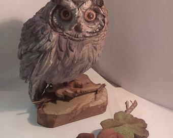 Owl - wooden sculpture