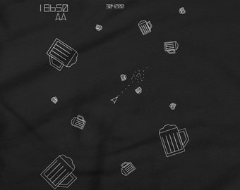 Beer Asteroids T-Shirt - Great for Gamers and Beer Lovers