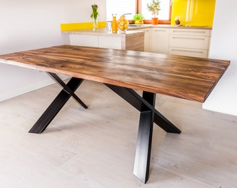 Hand made Royal Walnut dinning table - SOLD