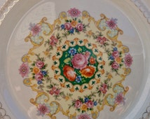 Pretty in Pink Triumph American Limoges Melody Plate