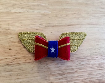 Wonder Woman Inspired Hair Bow