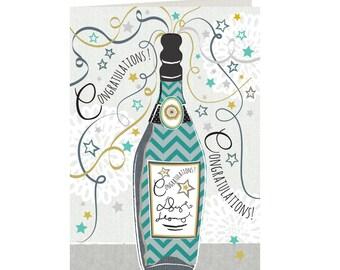 Congratulations Card - Congratulations - Champagne - Well Done