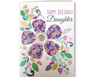 Birthday Card - Happy Birthday Daughter - Birthday Greeting Card - Daughter - Daughter Birthday Card