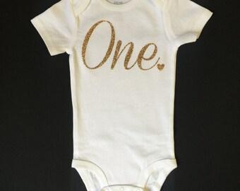 First Birthday Onesie, Cute One Bodysuit