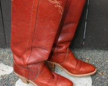 Vintage leather ladies USA size 8 b FRYE boots