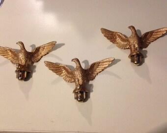 Vintage 3 Figural Spread Eagles