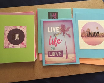 Pack of 12 Summer Greeting Cards