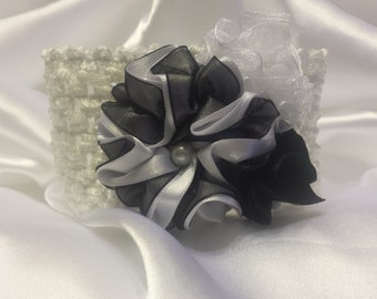 Girls Princess Black and White Headband