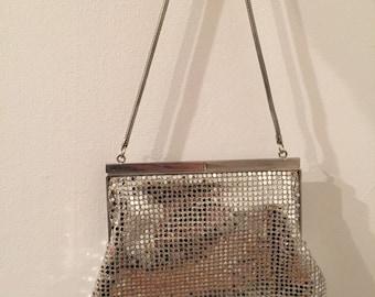 Vintage Silver Metalic Mesh Purse
