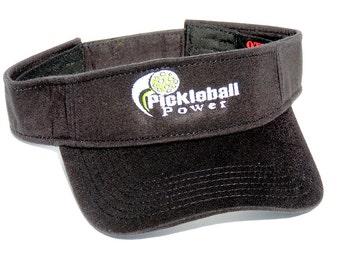 Pickleball Logo - Cool Comfort Mesh - Black Visor