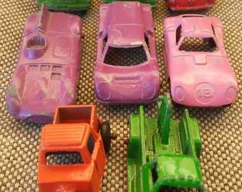 Vintage collection of eight Tootsie Toy diecast vehicles