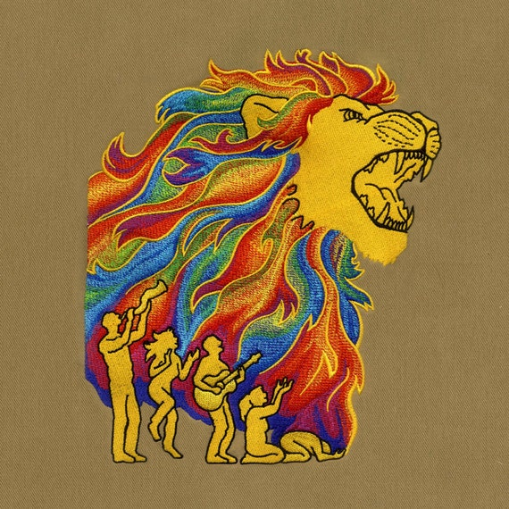 Roaring Lion Machine Embroidery Design