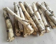 10 WHITE BIRCH LOGS,Bundled logs,Birch Poles,Craft supplies,Birch Sticks,Rustic Wedding,Birch Wood Logs,Wedding birch decor