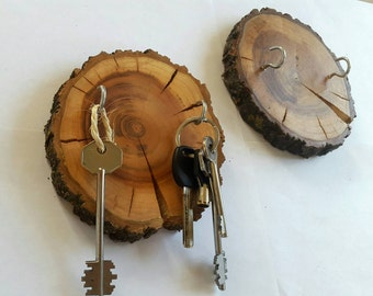 Key Holder wooden, Key Hooks, Rustic decor, Wall Decor,