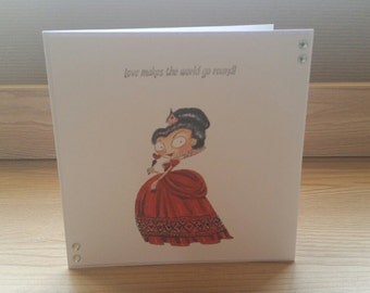 Alice in Wonderland Queen of Hearts Hand Made Card