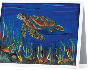 Ocean Art on Note Cards