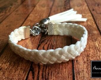 Bracelet Braided Suede