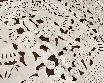 Mexican Papel Picado Dove Tablecloth
