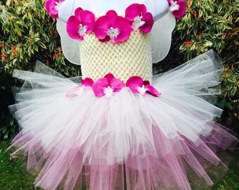 Fairy Tutu Dress with customised wings! Age 2-4