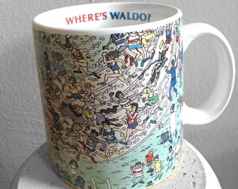 Where's Waldo Runners Mug - vintage & fun!