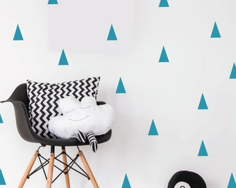 Triangle wall stickers / decal / triangles home decor / triangle wall art office kitchen / Gold Grey Black White Vinyl Sticker / wallpaper