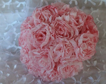 BRIDAL BOUQUET with handmade paper roses