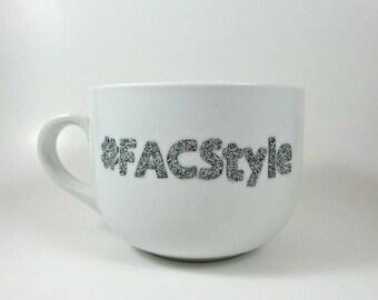 Hand Designed Fifth Avenue Collection #FACStyle Glitter Mug