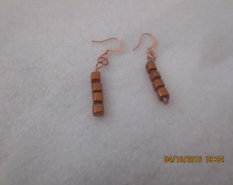 0004-Rose Gold Colored Earrings