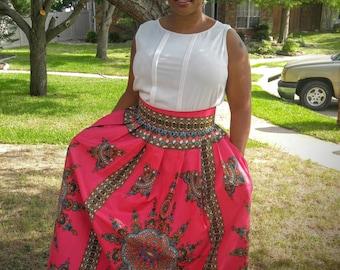 African skirt, African print skirt, African maxi skirt, Dashiki skirt, Ankara maxi skirt, dashiki,African long skirt, African fashion, Women