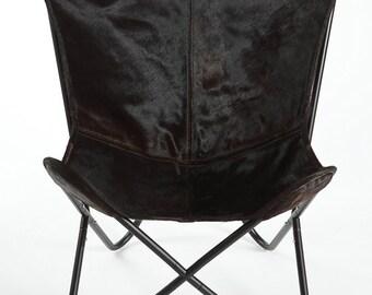 Black Espresso Dark Hair Butterfly Chair