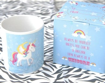 Always Be A Unicorn Mug with Matching Gift Box