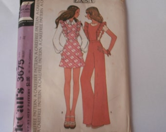 McCall's Sewing Pattern 3675 Misses' and Junior Overalls or Jumper Size 14