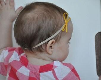 Nylon headband for baby, soft suedine loop