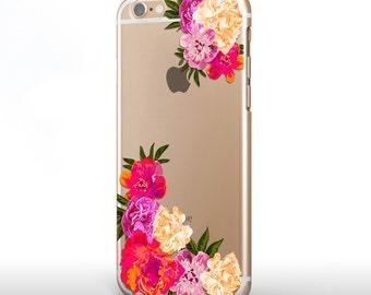 Transparent iPhone 6 Plus Case Flowers iPhone 6 Plus Case iPhone 6 Clear Case Floral iPhone 6s Case Samsung S6 Edge Case Samsung S6 Case 089