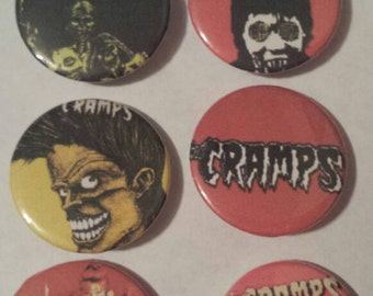 6 The Cramps Button Set of 6