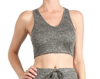 Knit Racer-back Crop