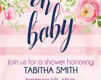 Custom Baby Shower Invitation Digital Download