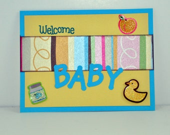 New Baby Card, Baby Boy Card, Baby Girl Card, Special Occasion Card, Welcome Baby Card, Baby Shower, Baby Gift, Expecting Baby Card