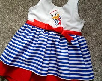 Baby Daisy Duck Dress, Handmade dress, Kids Clothes, girls, toddler, babies