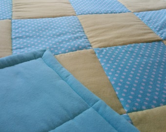 Small Quilt in Blue and Yellow