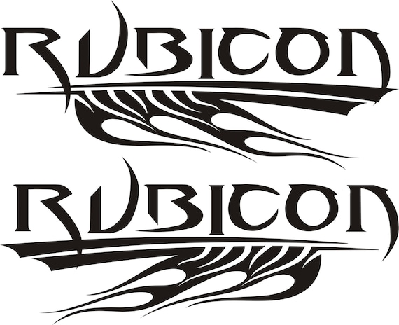 jeep rubicon tribal flames sticker set multiple sizes  u0026 colors