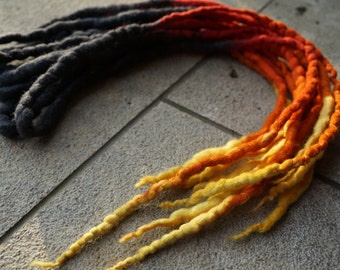 Customizable accent kit of wool or synthetic dreads